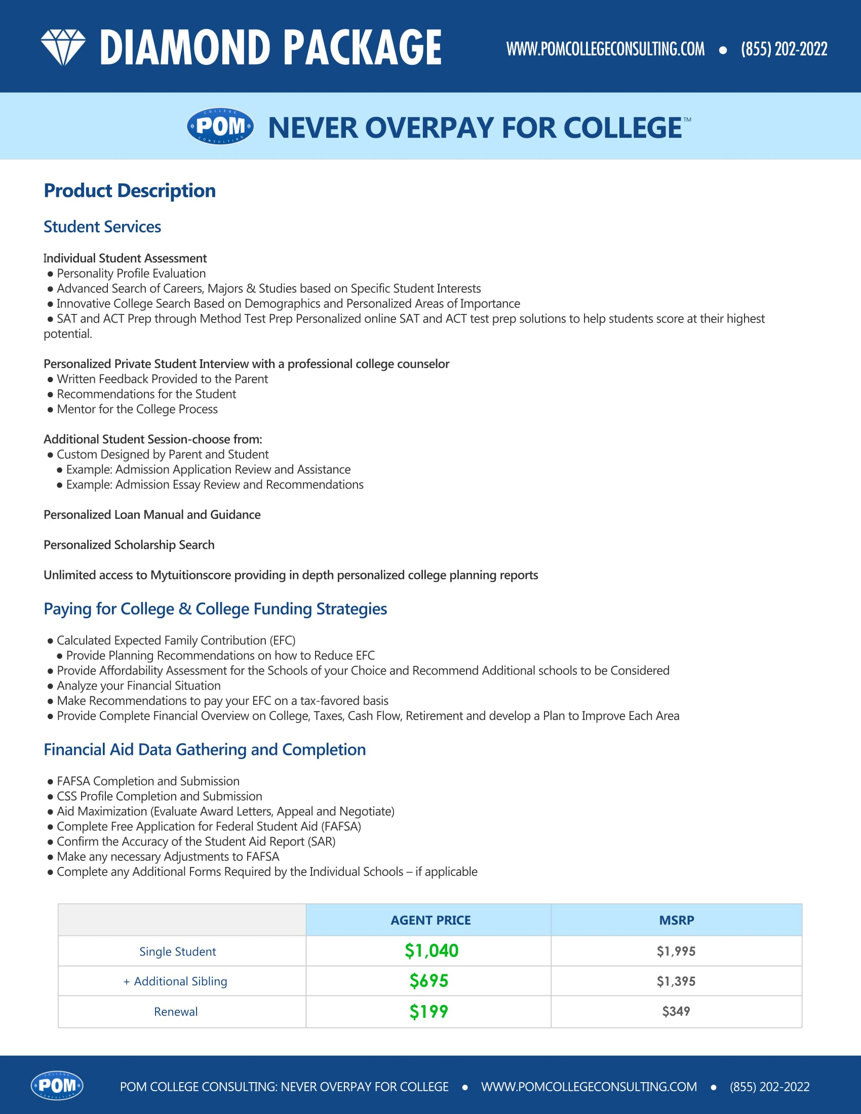 Diamond Package – Never Overpay for College